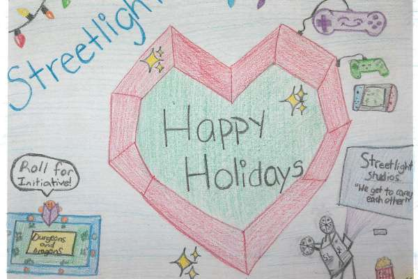 Artwork created by a patient serving on the Streetlight Gaming League Steering Committee.