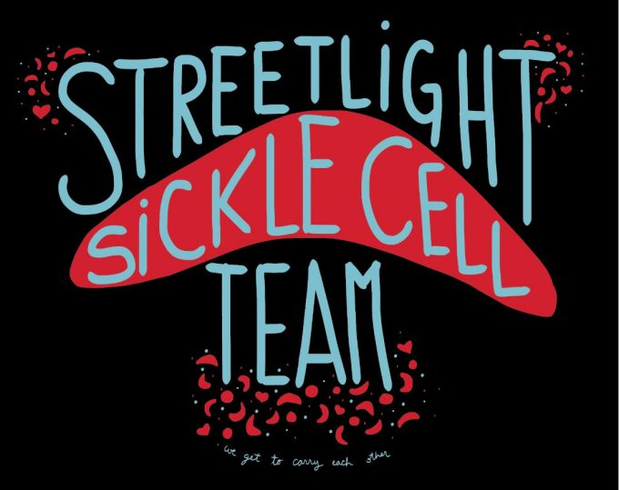 Sickle Cell Team Logo by our volunteer and team captain, Sarah Nguyentran!