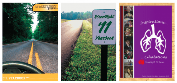 Covers of CF Yearbook 2009, 2011, and 2015